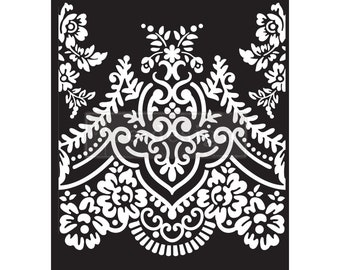 NEW Elegant Lace Prima Redesign Stencils,  Furniture Stencils, Mylar Stencils,  Wall stencil, stencils, FREE SHPPING