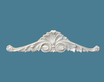 P7 Shell and Scroll Pediment, EFEX, Replacement Moulding, Historic Moulding, Silicone Moulding, Embellishment , Made In USA, Free Shipping