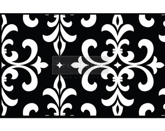 Modern Damask Stick & Style Reusable Adhesive Stencil from Redesign with Prima with Free Shipping