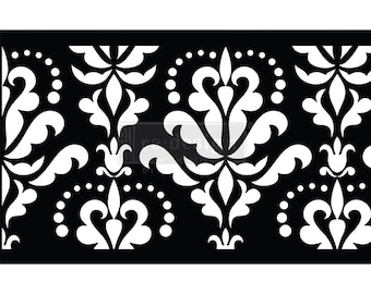 Damask Floral Stick & Style Reusable Adhesive Stencil from Redesign with Prima with Free Shipping
