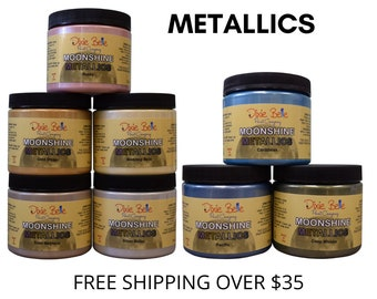 MOONSHINE METALLICS Paint from Dixie Belle, Metallic paints for furniture painting and craft paint