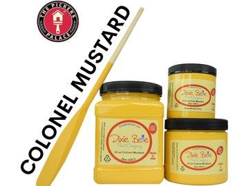 COLONEL MUSTARD Yellow  Dixie Belle Paint, Chalk Mineral Furniture Paint, Cabinet Paint, Chalk Paint, Door Paint