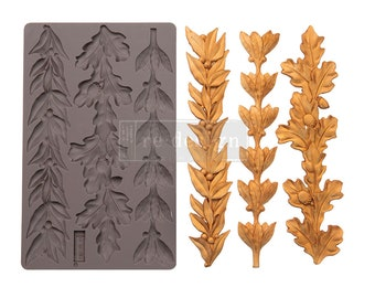 Louelle Borders Resin, Clay and Culinary Mold with  Free Shipping from Redesign   5 x 8 Silicone Mould