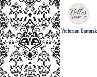 Dixie Belle Stencils, Victorian Damask Stencil,  Furniture Stencils, Mylar Stencils,  Wall stencil, stencils, FREE SHPPING