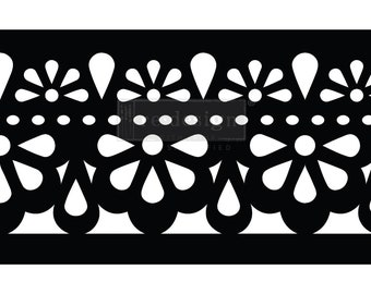 Classic Lace Stick & Style Reusable Adhesive Stencil from Redesign with Prima with Free Shipping