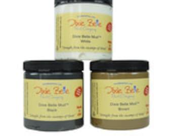 Dixie Belle MUD in White, Black, Brown for painting, stencil, raised stenciling ,repairing furniture and veneer