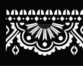Mehndi Border Stick & Style Reusable Adhesive Stencil from Redesign with Prima with Free Shipping