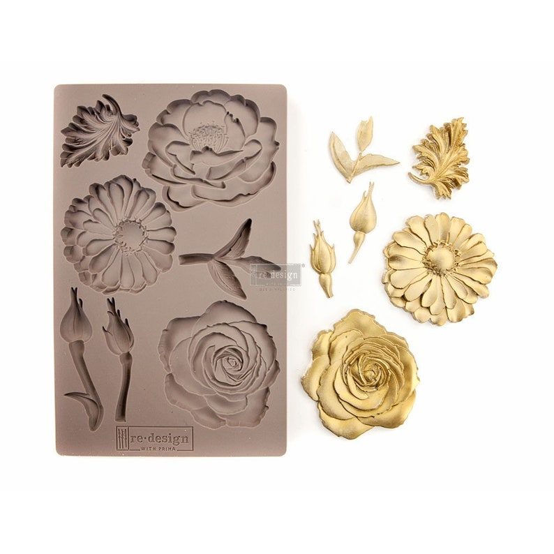 Resin Mold FREE SHIPPING Redesign with Prima Decor Moulds Silicone Mold 5 x 8 Silicone Mold In the Garden Mold