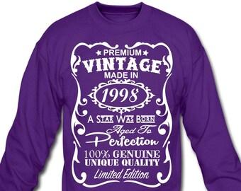 Aged to Perfection 1998 Vintage Year 21st Birthday Gift//Present Mens Pyjama Set