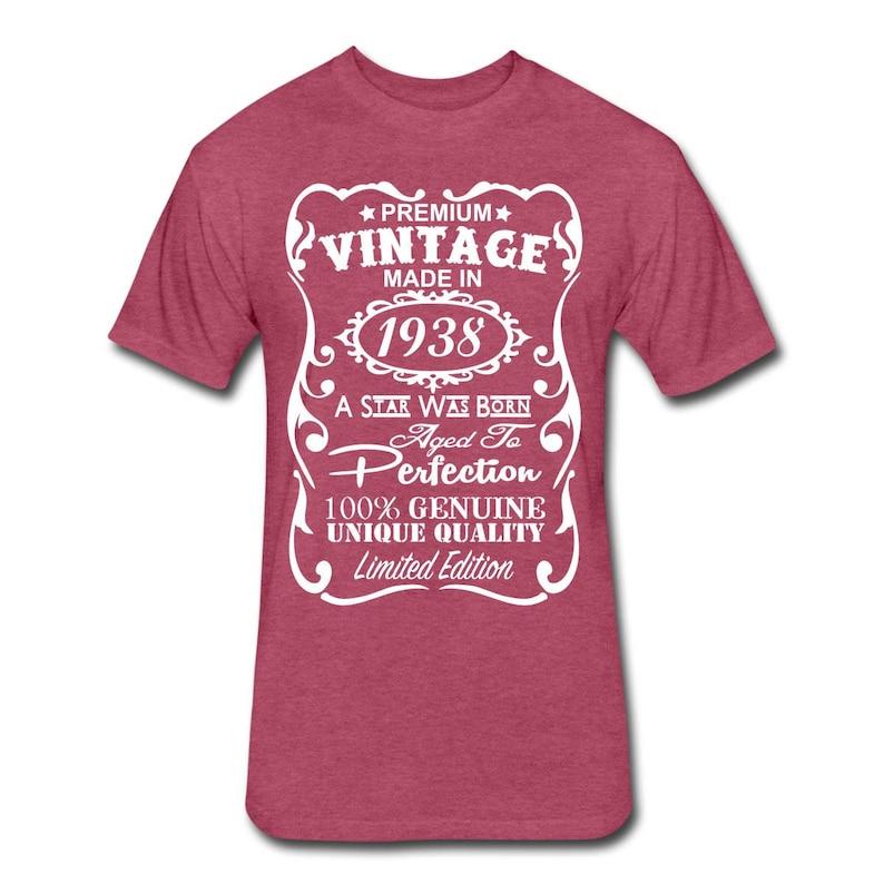 VELVETY 80th Birthday Gift Ideas For Men Unique T Shirt