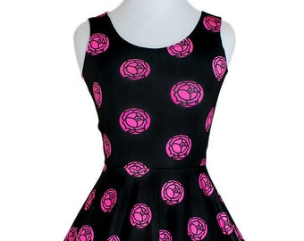 UTENA The Revolutionary Girl Rose Crest Seal Skater Dress
