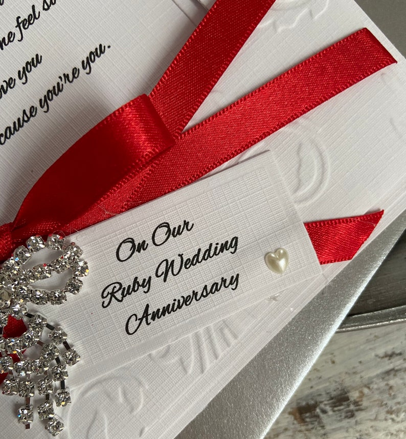 luxury card for ruby anniversary for my husband on our