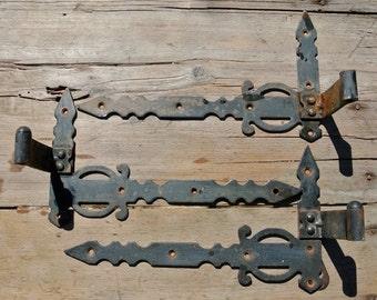 Vintage Metal Hinges, Shutter Hinges, Door Hinges, Cabinet Hinges, Shabby Chic, Vintage Iron Hinge, Rusty Metal Findings