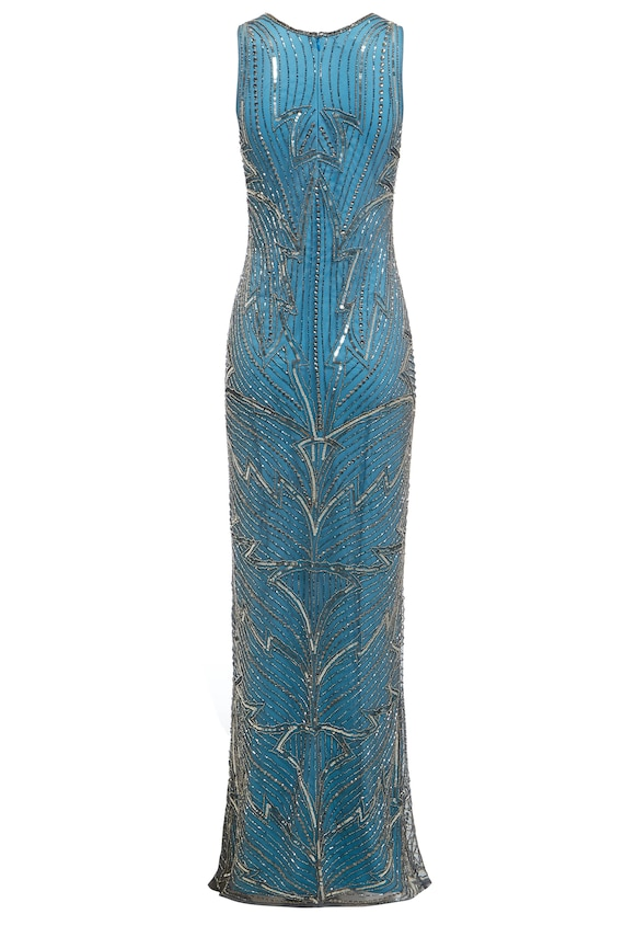 Monica Embellished Wedding Maxi 1920s Great Gatsby Inspired | Etsy