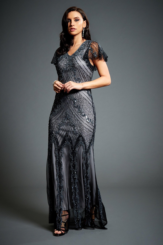 8c7219e7d22d6 Ellen Beaded Flapper Dress 1920s Great Gatsby Inspired   Etsy