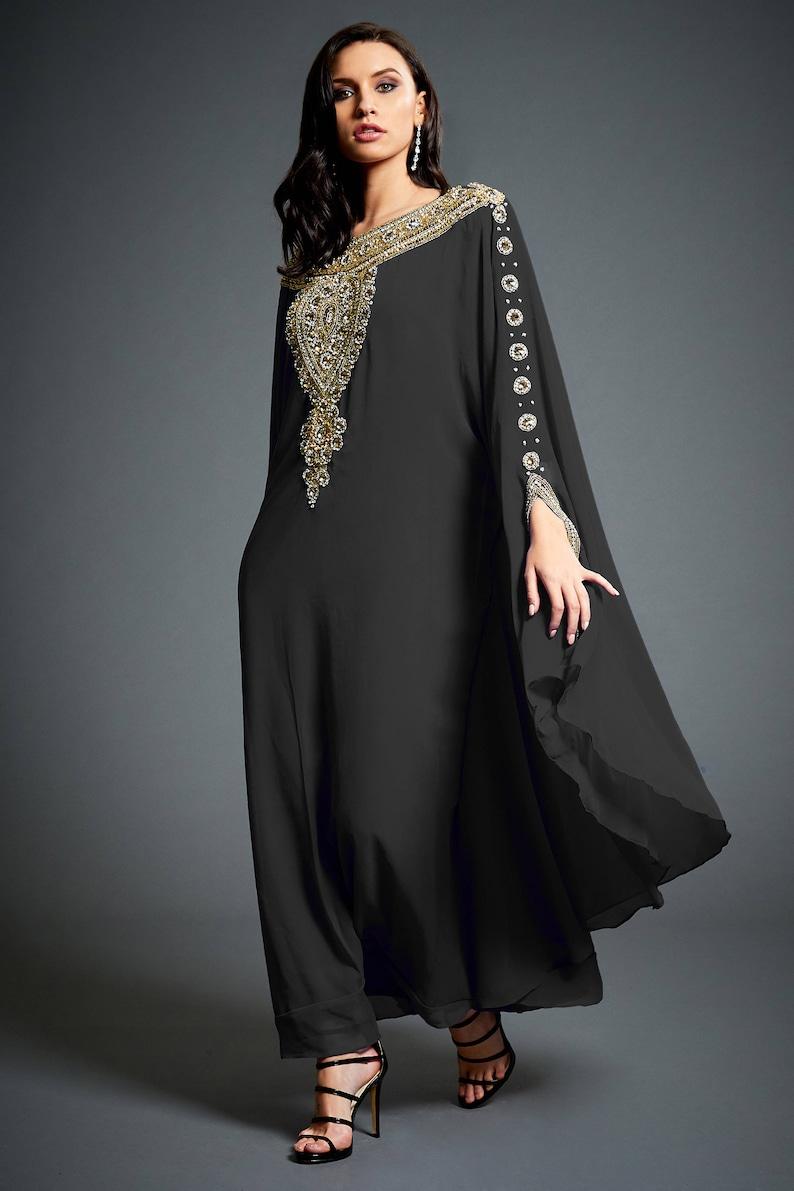 Amina Moroccan Abaya Caftan Gold Beaded Kaftan Dress Kaftan | Etsy