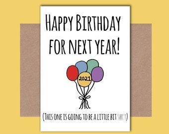 Virus Birthday Card Etsy