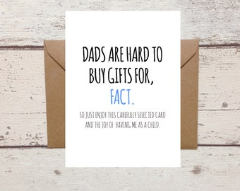Funny Card For Dad Birthday Dads Hard To Buy