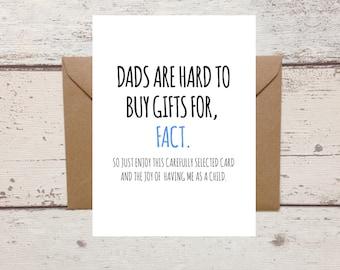 Funny Dad Birthday Card - Sarcastic Card for Dad