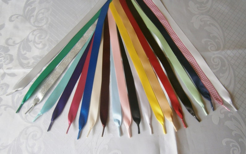 14 width Shoes DM/'s Ribbon Shoe Laces for Trainers,Boots 6mm Aglet Ends -Adults /& children Kickers,Tims in satin