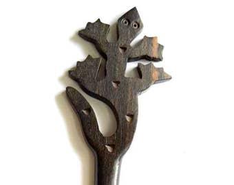 Hair Stick, Lizad Hair Stick, Wooden Hair Stick, Handmade Hair Stick, Hair look Stick, Hair Pin, Tribal Hair Stick