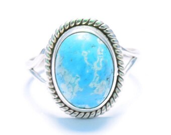 Turquoise ring, Silver ring, Turquoise Stone Ring, Turquoise Silver Ring , Tibetan Ring, Size US 3 4 5 6 7 8 9 10 11 12 13 14, 9