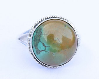 Turquoise ring, Silver ring, Turquoise Stone Ring, Turquoise Silver Ring , Tibetan Ring, Size US 3 4 5 6 7 8 9 10 11 12 13 14 15 16, 54