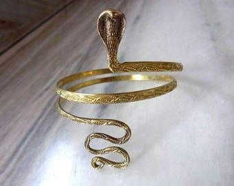 Silver Arm cuff, Upper Arm cuff, Gold arm cuff, Arm Cuff for Woman, Armlet, Snake Cobra Arm cuff, Armband For Women, Arm cuff For Girls