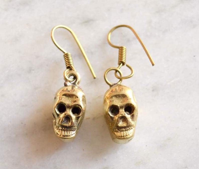 Brass earrings tribal earring Gypsy Earring 637 Girls Earring Hoop Earring Women Earring Gypsy Earring