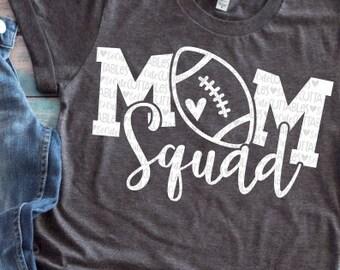 Football, football mom, Mom Squad svg design, football mom svg, football shirt, football mama cut file, football clipart