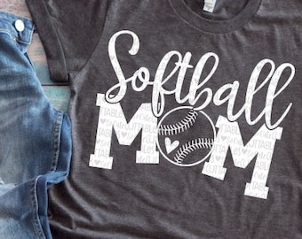 Softball Svg Mom Ball Cutfile File Shirt Clipart Grunge