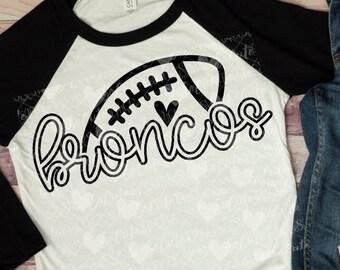 Football, Broncos football svg design, football mom svg, football sister, football shirt, football mama, cut file, football clipart, svg