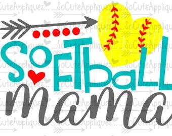 Softball Mama Svg Etsy