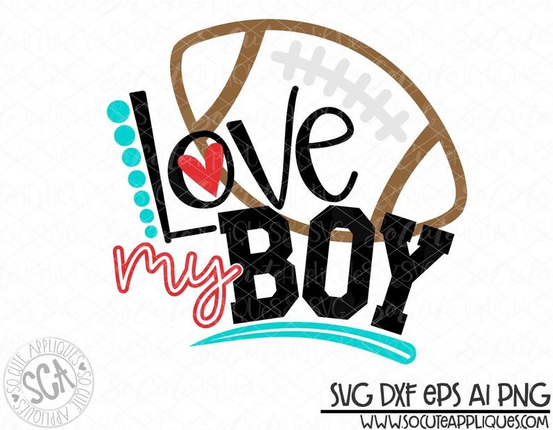Download Football football mom Love my boy svg design football mom ...