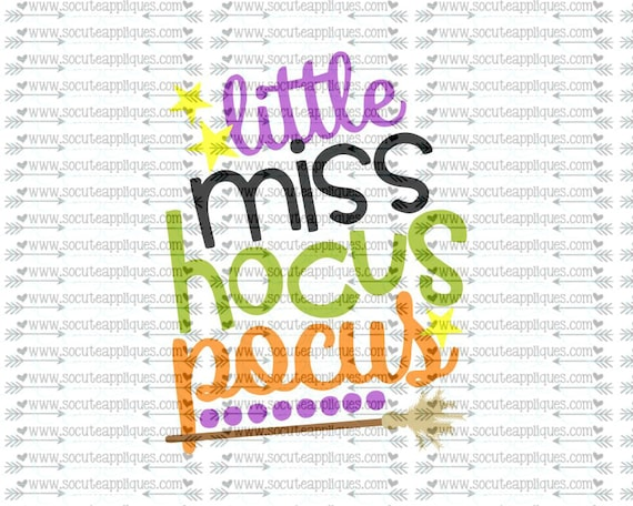 Svg Dxf Eps Cutting File Little Miss Hocus Pocus Happy Etsy