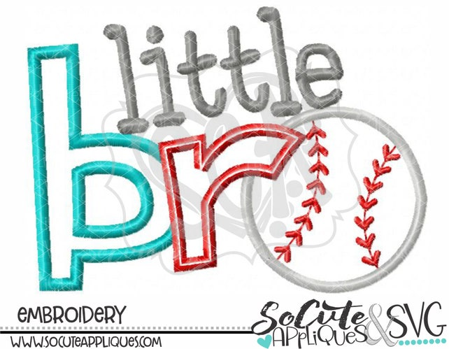 Little Brother Baseball Embroidery Design New Baby Embroidery Etsy