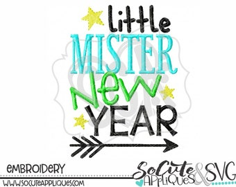 New year Embroidery design, Little Mr New Year, socuteappliques, New baby embroidery, baby boy embroidery, new years day embroidery saying,
