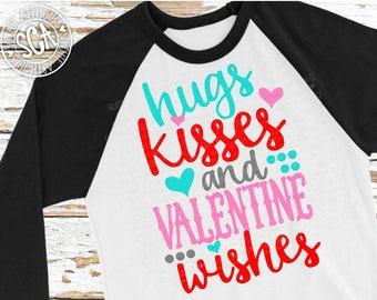 Valentine svg, Hugs kisses valentine wishes svg, Valentines Day SVG, valentines cut file, heart svg, socuteappliques, Wedding svg, arrow svg