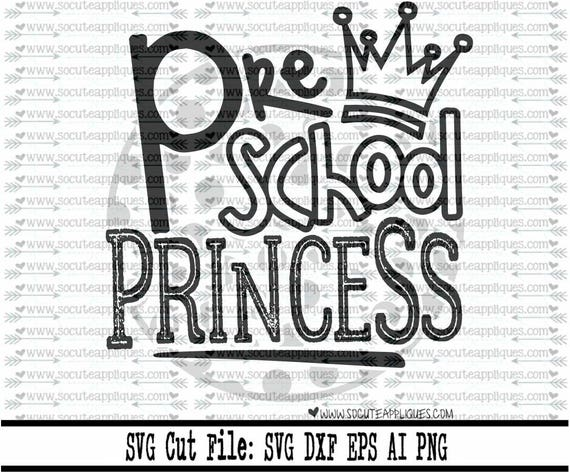 Download Preschool Princess Cut File PNG