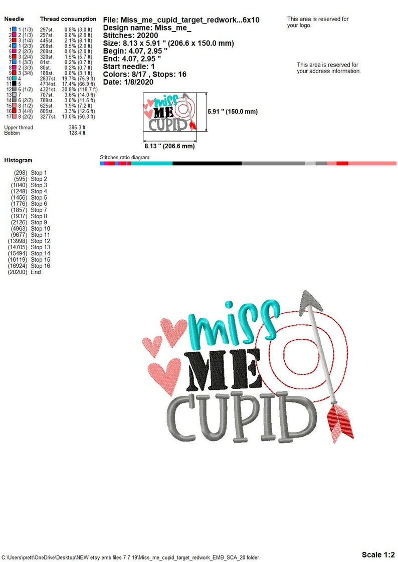 Valentines day embroidery Valentines Day Miss me Cupid design Embroidery socuteappliques Embroidery saying