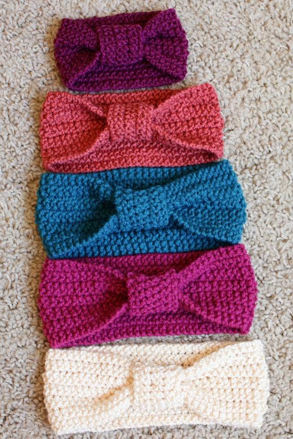 Knit Headband Pattern Baby Headband Knotted Headband Etsy