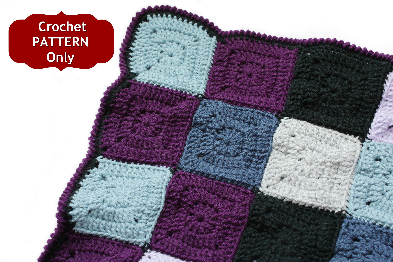 Crochet Blanket Pattern Baby Gift Idea Granny Square Etsy
