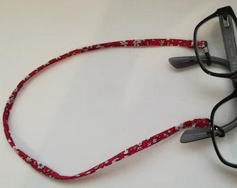 Attaches lunettes tissu liberty london, attache lunettes originale, porte  lunette, cordon à lunettes 84fb0409c251