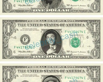 custom personalized dollar bill your face on real money etsy