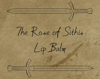 The Rose of Sithis - Rose Scented Lip Balm.  Inspired by The Elder scrolls : Oblivion & Skyrim.