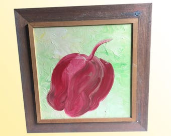 Pink Apple Oil Painting