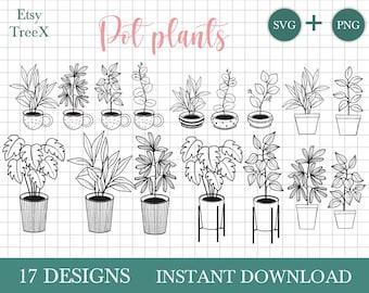 House Plant Download House Plant Cricut Cut File House Plant Printable Clipart House Plant Svg Cut Files For Cricut