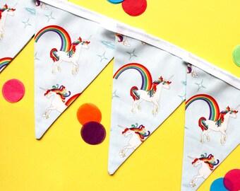 Unicorn bunting - unicorn garland - unicorn banner - unicorn baby shower - childrens bunting - kids bunting - unicorn gift