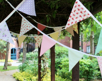 Bunting by the metre - long bunting - floral bunting - vintage bunting - wedding bunting - fabric bunting - shabby chic bunting