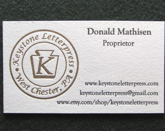 Letterpress business card set modern square personalized etsy letterpress business card sample colourmoves